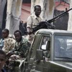 Schwer bewaffnete Regierungsmilizen im Zentrum der Hauptstadt Mogadischu.