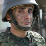 Portrait des kurdischen Offiziers Mayor Abdullah Stony (38 Jahre).